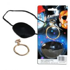 Pirate Eyepatch & Earring Set